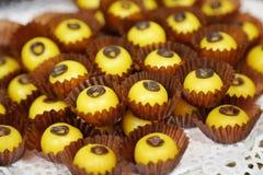 Desserts d'imitation de fruit photo stock