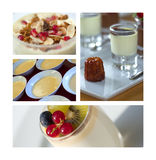 Desserts and dairy products Royalty Free Stock Images