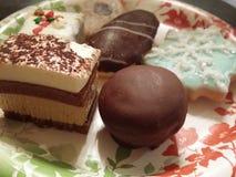 Desserts de chocolat Photos libres de droits