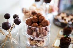 Desserts de chocolat Photos stock