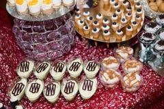 Desserts de crème anglaise Image stock