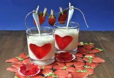 Desserts de laiterie Photographie stock libre de droits