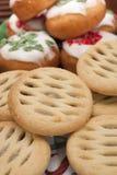 Desserts de Noël Photographie stock