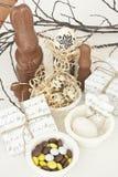Desserts de Pâques Photos stock