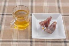 Desserts de thé et de Japonais Image libre de droits