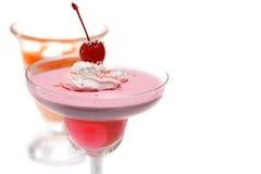Desserts die op wit worden geïsoleerdr stock afbeeldingen