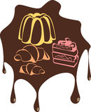 Desserts doux Photographie stock