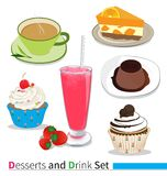 Desserts and drink Stock Photos