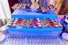 Desserts en de cake Stock Foto's