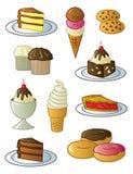 Desserts en Snoepjes Stock Afbeelding