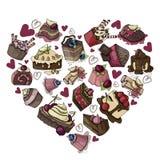 Desserts et bonbons de vecteur illustration de vecteur