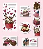 Desserts et bonbons de vecteur illustration libre de droits