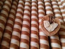 Desserts et coeur d'écrou Image stock