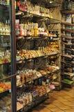 Desserts et liqueurs siciliens types Image stock