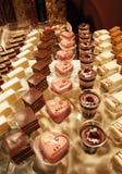 Desserts et pâtisserie servis sur une noce Image libre de droits