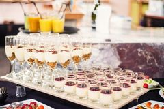 Desserts for an event Stock Photo