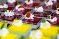 Desserts with fruit Stock Photo