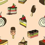 Desserts and ice cream Stock Image