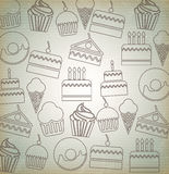 Desserts icons Royalty Free Stock Image