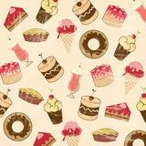 Desserts icons Royalty Free Stock Photo