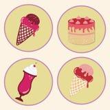 Desserts icons Royalty Free Stock Photos