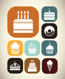 Desserts icons Royalty Free Stock Photos