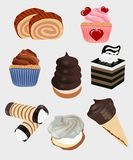 Desserts. Illustration of several different desserts royalty free illustration