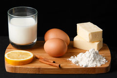 Desserts ingredients Royalty Free Stock Images