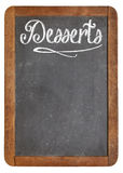 Desserts menu on blackboard Royalty Free Stock Images