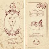 Desserts menu template Royalty Free Stock Photography