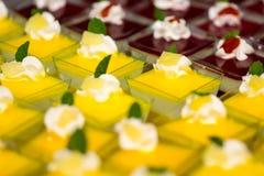 Desserts met fruit Royalty-vrije Stock Foto's