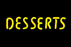 Desserts Neon Sign Royalty Free Stock Photography