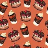 Desserts pattern Stock Photos