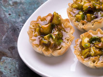 Desserts - Pistachio Baklava Mini Tarts Royalty Free Stock Photos