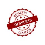 Desserts stamp illustration. Desserts red stamp seal illustration design Stock Photo