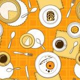 Desserts seamless pattern. Royalty Free Stock Image