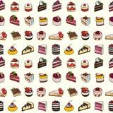 Desserts seamless pattern. Stock Photos