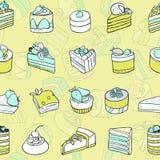 Desserts seamless pattern. Stock Photo