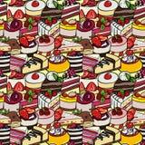 Desserts seamless pattern. Royalty Free Stock Photography