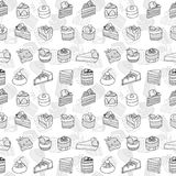 Desserts seamless pattern. Royalty Free Stock Photography