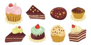Desserts Set Royalty Free Stock Photo