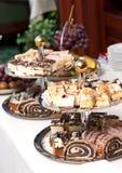 Desserts, Snoepjes en Gebakjes stock afbeelding