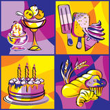 Desserts sweets bright Stock Image