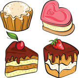 Desserts for tea Stock Image