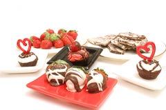 Desserts upclose on white stock photo