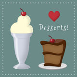 Desserts Royalty Free Stock Image
