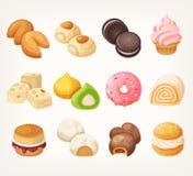 Desserts voor thee stock illustratie