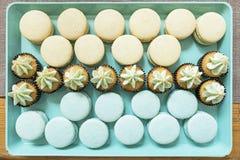 Dessertsdienblad royalty-vrije stock foto's