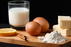Dessertsingrediënten Stock Foto