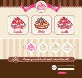 Dessertthema voor Webmalplaatje Royalty-vrije Stock Afbeelding